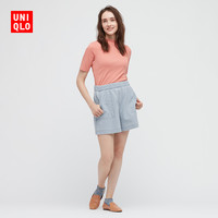 UNIQLO 优衣库 435870 女装牛仔针织短裤