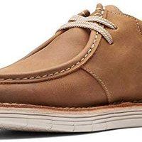 Clarks 男士 Forge Run 运动鞋 皮革棕色