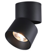 NVC Lighting 雷士照明 E-NLED984 折叠明装筒射灯 9W 暖黄光 黑色