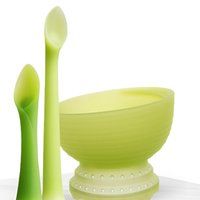 olababy 93002 儿童碗勺套装 绿芽