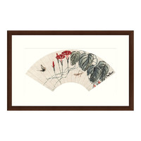 Artron 雅昌 齐白石 《蟋蟀蝴蝶扇》 79×50cm 装饰画 宣纸
