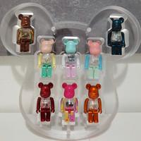 维格列艺术 积木熊 BEARBRICK 收藏款8只秋千款100% 潮流家居装饰玩偶摆件