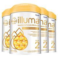 illuma 启赋 A2蛋白系列 较大婴儿奶粉 港版 2段 900g*4罐