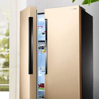 SAMSUNG 三星 冰洗套装 RS62MAJ00FE/SC 对开门冰箱 638L+WD90K5410OG/SC 洗烘一体机 洗9kg+烘6kg 金色
