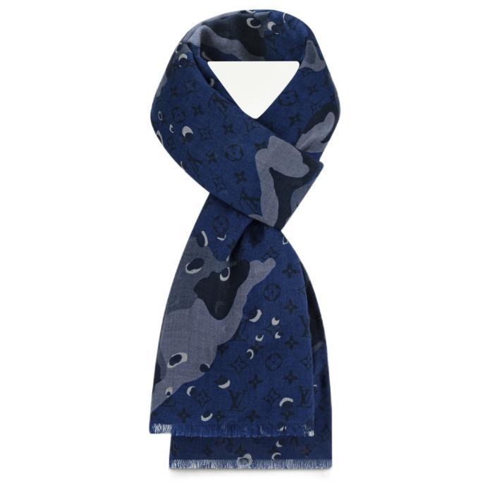 LOUIS VUITTON 路易威登 CAMOUFLAGE系列 印花长围巾