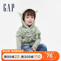 Gap男幼童抓绒运动卫衣649622春季新款童装 浅绿色 90cm(90cm(2岁))
