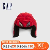 Gap男幼童蜘蛛侠遮耳帽 仿羊羔绒帽子新款儿童雷锋帽 红色593578 M/L