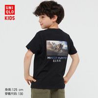 UNIQLO 优衣库 儿童短袖UT怪物猎人崛起T恤
