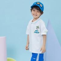 LI-NING 李宁 宝宝短袖polo衫  趣味三眼仔系列