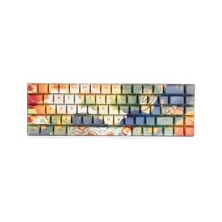 有券的上 : NEWMEN 新贵 GM680 机械键盘 68键 RGB背光 紫轴