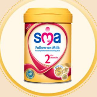 SMA 英国惠氏 较大婴儿奶粉 港版 2段 900g 金装版