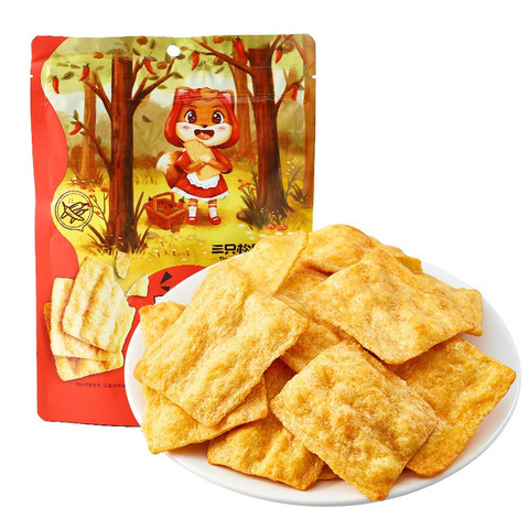 Three Squirrels 三只松鼠 地锅脆片 锅巴薯片休闲小吃零食小吃膨化食品儿童食品85g/袋