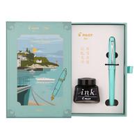 PLUS会员:PILOT 百乐 FP-78G 钢笔 意式风情系列 墨水礼盒套装 嫩绿 F尖