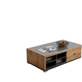 QuanU 全友 123116 现代简约钢化玻璃台面电视柜