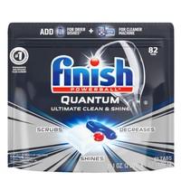 Prime会员:finish 亮碟 Quantum系列 洗碗机洗涤块 82块