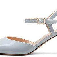 CASTAMERE 女式露跟小猫高跟鞋踝带系带尖头 6.5 厘米鞋跟凉鞋
