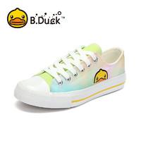 B.Duck Y133951 潮流涂鸦女士帆布鞋