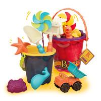 黑卡会员:B.Toys 比乐 儿童沙滩桶玩具 9件套