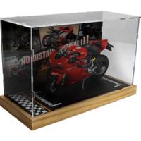 Maisto 美驰图 摩托车模型  1/12杜卡迪1199+实木底座防尘罩
