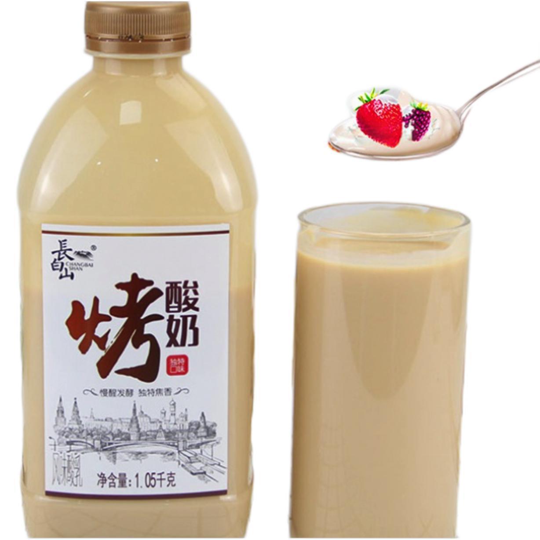 长白山 烤酸奶 1.05kg+奥醇 百香果味酸奶 1.05kg