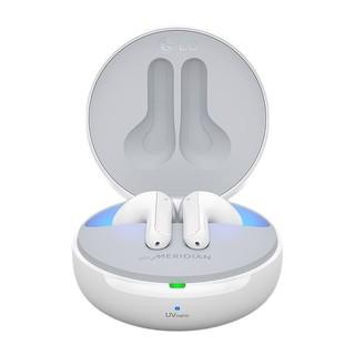 LG 乐金 耳机真无线蓝牙 分体式耳机  主动降噪通话降噪 蓝牙耳机 迷你入耳式收纳充电盒白色 HBS-FN7.ABCNWH