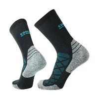 COOLMAX 中性運動中筒襪 A208 黑藍灰 L F款
