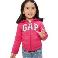 Gap 盖璞 女童LOGO抓绒运动卫衣