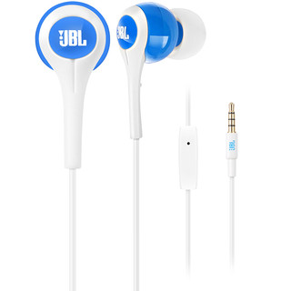 JBL 杰宝 T200A 入耳式有线耳机 白蓝色 3.5mm