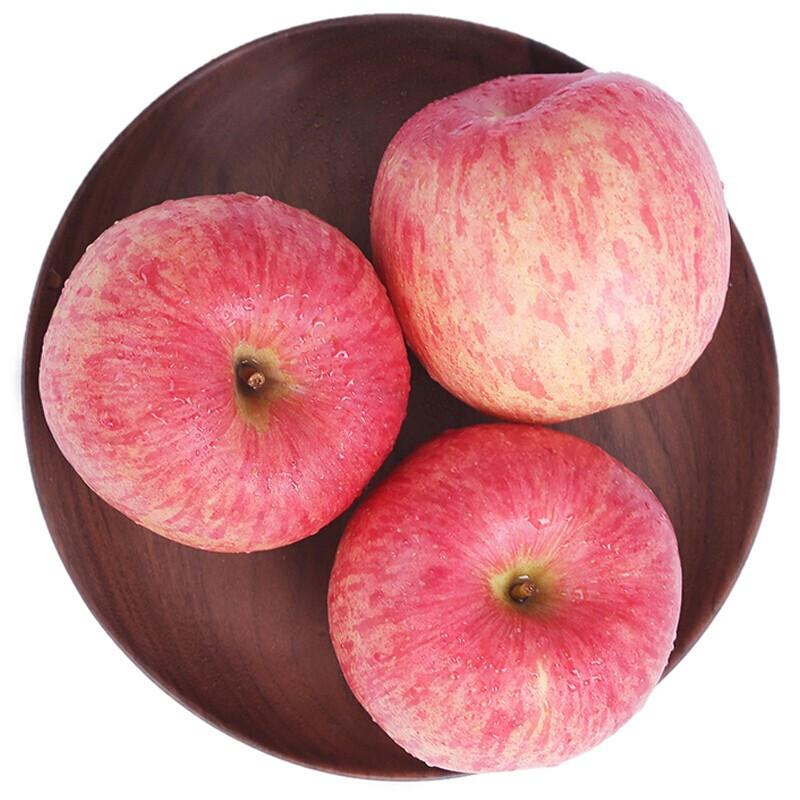 京觅 栖霞红富士苹果 12个 单果果径75mm