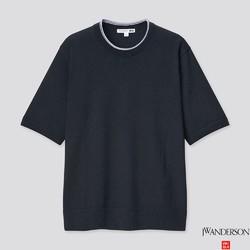UNIQLO 优衣库 437812 男士麻混纺圆领针织衫
