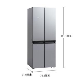 SIEMENS 西门子 KM49EA60TI 混冷十字对开门冰箱 481L 银色