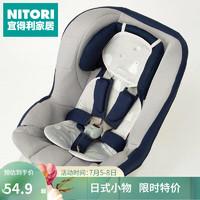 日本NITORI宜得利家居 婴儿推车凉席夏季新生儿童手推车通用宝宝凉席垫 强冷感婴儿车垫 白熊 淡灰