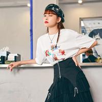 PEACEBIRD 太平鸟 AYDAB248281 女款趣味印花短袖T恤