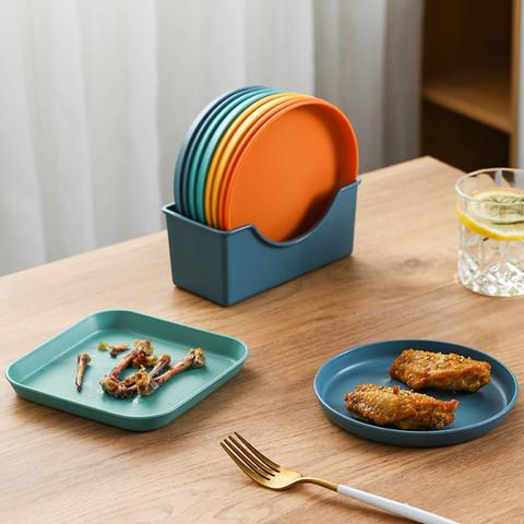 泰南老 5件套丨吐骨碟家用餐桌垃圾盘可爱水果盘小吃盘家用小碟子日式