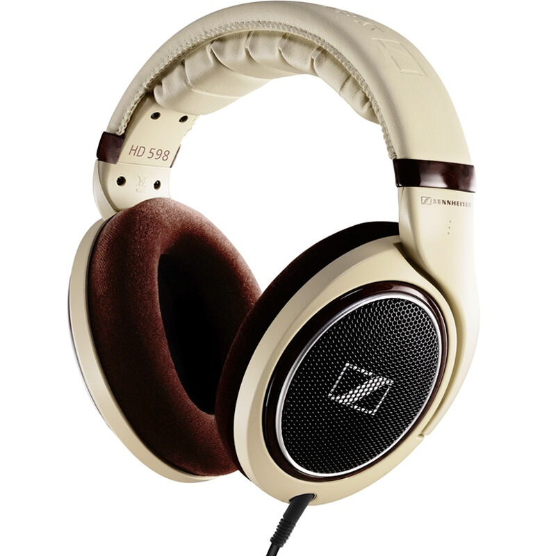 SENNHEISER 森海塞尔 HD598 耳罩式头戴式有线耳机 米色 3.5mm