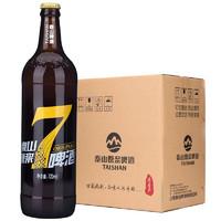 TAISHAN 泰山啤酒 泰山原浆 黄七标 啤酒 720ml*6瓶