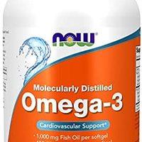 NOW Foods诺奥 Omega-3深海鱼油软胶囊 500粒