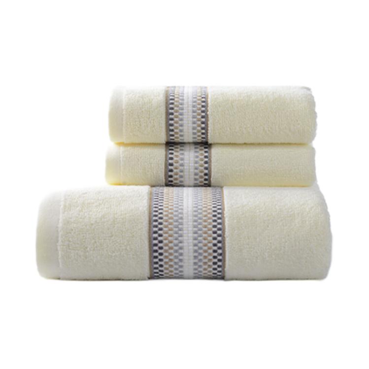 蔓莎系列 浴巾*1+毛巾*2 米色