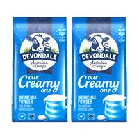 DEVONDALE 德运 全脂成人奶粉 1kg*2袋