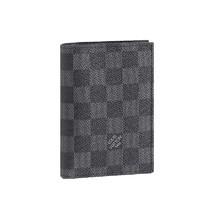 LOUIS VUITTON 路易威登 护照套 N64411 黑灰色