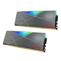 XPG 龙耀系列 D50 DDR4 3600MHz RGB 台式机内存 钛灰 16GB 8GB*2