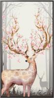 海龙红 麋鹿玄关装饰画现代简约北欧过道竖版走廊入户过道墙画招财美式