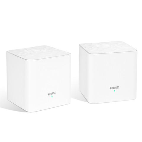 Tenda 腾达 mw3 双频1200M 千兆无线Mesh分布式路由器 WiFi 5 白色 两母装