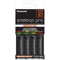 eneloop 爱乐普 KJ55MCC40C 5号充电电池 1.2V 2550mAh 4节 黑色+快速充电器