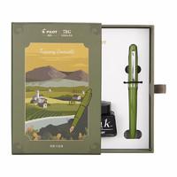 PLUS会员:PILOT 百乐 意式风情 FP-78G 钢笔 墨水套装 F尖 橄榄绿