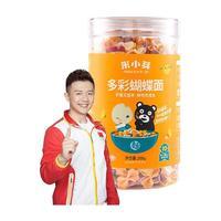 PLUS会员:米小芽 婴幼儿多彩蝴蝶面 原味 200g*4罐