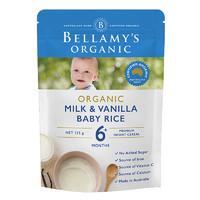 BELLAMY'S 贝拉米 有机米粉 澳版 1段 香草牛奶味 125g