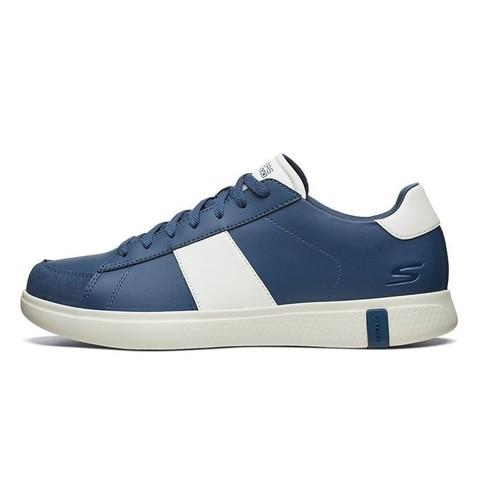 SKECHERS 斯凯奇 Skechers斯凯奇新款男鞋简约绑带板鞋 时尚低帮小白鞋休闲鞋55447