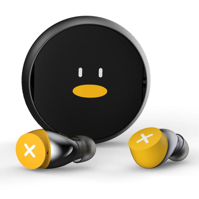 Tencent 腾讯 怪企鹅 入耳式真无线蓝牙耳机 黄色