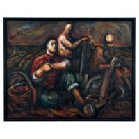 中国嘉德 丁方 麦田守望 150×180cm 布面油画 1984-1990
